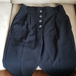 High waisted button dress pants